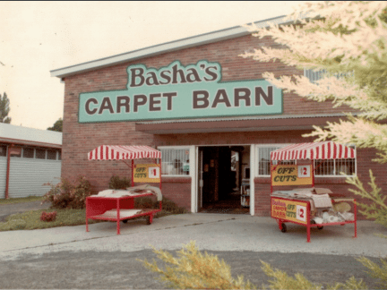 Basha's current premises in Graham Street in the 1970s